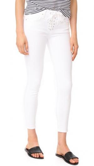 Укороченные узкие джинсы Shore Leave McGuire Denim. Цвет: white realm