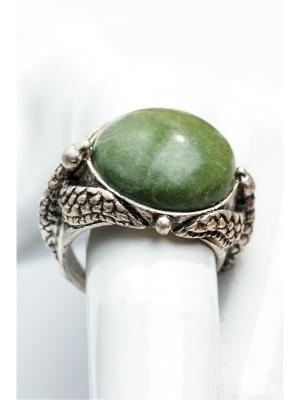 Кольцо Змеевик Anastasiya Usoltseva. Цвет: серебристый, желтый, зеленый