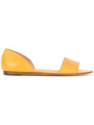 Сандалии-слипон Michel Vivien. Цвет: жёлтый и оранжевый