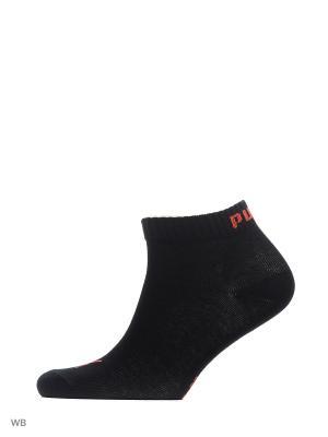 Носки PUMA UNISEX QUARTER PLAIN 3P. Цвет: черный, красный, серый