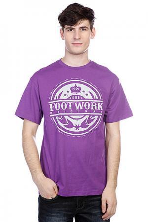 Футболка  Crown Violet Footwork. Цвет: фиолетовый