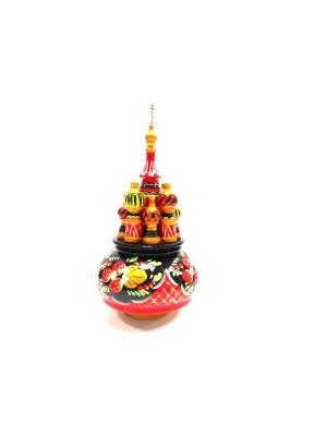 Церквушка большая с заводным механизмом красно - черная ягоды Taowa. Цвет: красный, черный