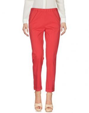 Повседневные брюки QL2 QUELLEDUE. Цвет: красный