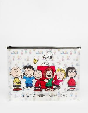Peanuts Пластиковая папка формата A4 с застежкой. Цвет: мульти