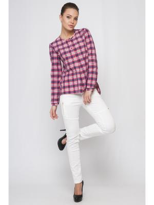 Рубашка Limonti. Цвет: красный, белый, синий