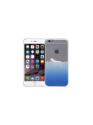 Чехол для iPhone 6/6s Белый медведь в воде Kawaii Factory. Цвет: прозрачный, белый, синий