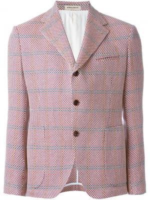 Блейзер с накладным карманом Al Duca D'Aosta 1902. Цвет: розовый и фиолетовый