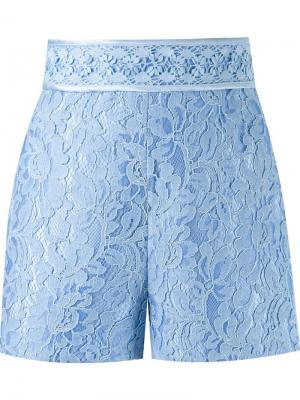 High-waisted lace shorts Martha Medeiros. Цвет: синий