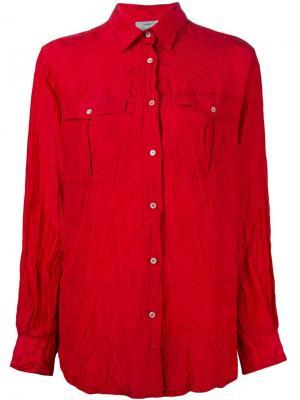 Рубашка с эффектом помятости Forte. Цвет: красный