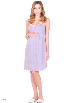 Сорочка женская для беременных и кормящих Hunny Mammy. Цвет: розовый, серый