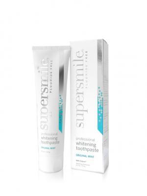 Отбеливающая зубная паста Supersmile Fluoride Free (Мята без фтора) 119 г. Цвет: серебристый