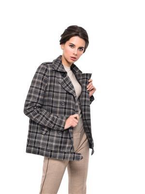 Пальто MORU. Цвет: коричневый, молочный, темно-серый