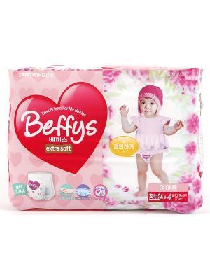Подгузники-трусики Beffys extra soft для девочек размер XXL (более 17 кг.) 28 шт. Beffy's. Цвет: красный