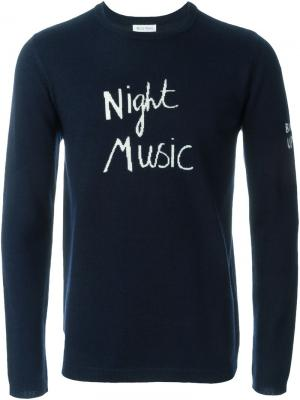 Свитер Night Music Bella Freud. Цвет: синий