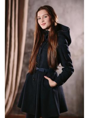 Пальто DUWALI. Цвет: темно-синий
