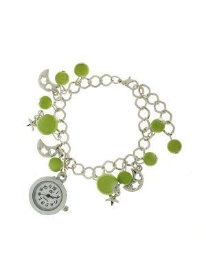 Браслет - часы Olere. Цвет: серебристый, зеленый