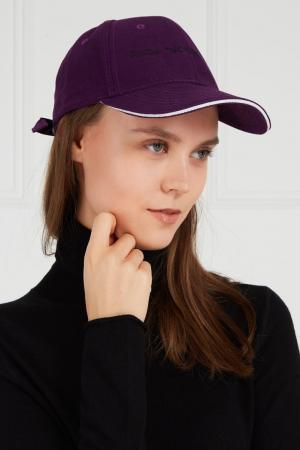 Фиолетовая кепка с вышивкой Natasha Zinko. Цвет: фиолетовый