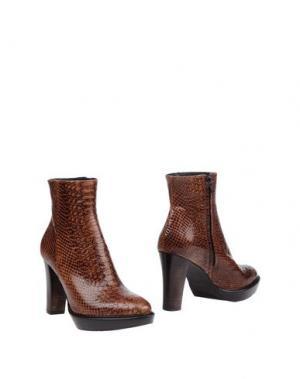 Полусапоги и высокие ботинки ZINDA. Цвет: темно-коричневый