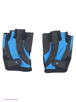 Перчатки для фитнеса женские Pro HARBINGER. Цвет: черный, синий