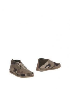 Обувь на шнурках VOLTA. Цвет: зеленый-милитари