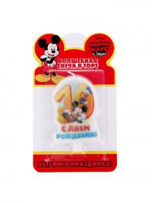 Свеча в торт, Микки-Маус Disney. Цвет: лазурный, молочный, оранжевый