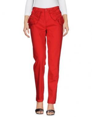 Джинсовые брюки SIMONE ROCHA x J BRAND. Цвет: красный
