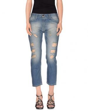 Джинсовые брюки-капри ANIYE BY. Цвет: синий