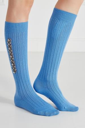 Носки с декором No.21. Цвет: синий