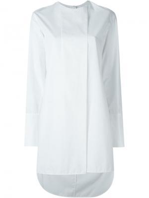 Удлиненная Блузка Белая Купить В