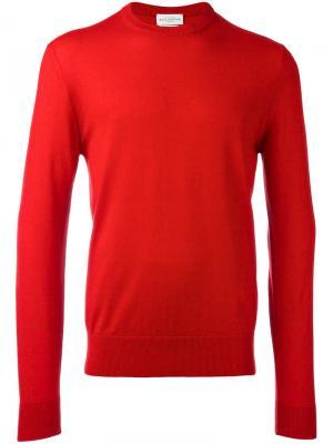 Пуловер кроя слим Ballantyne. Цвет: красный