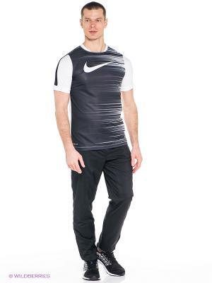 Футболка GPX SS FLASH TOP II Nike. Цвет: темно-серый, белый