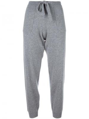 Спортивные штаны на завязках Allude. Цвет: серый