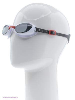 Очки для плавания Speedo. Цвет: красный, серый