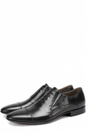 Классические кожаные оксфорды с острым мысом Aldo Brue. Цвет: черный