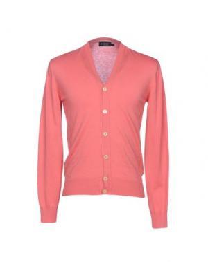 Кардиган HACKETT. Цвет: лососево-розовый