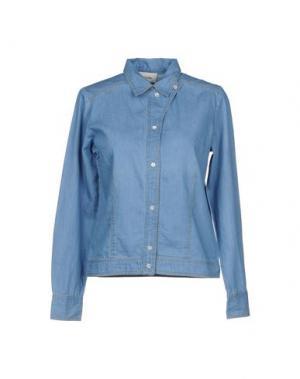 Джинсовая рубашка POLDER. Цвет: синий