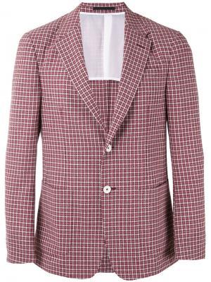 Клетчатый пиджак Z Zegna. Цвет: красный