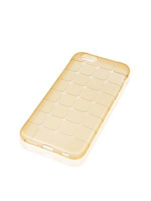 Силиконовый чехол Brosco Mesh для Apple Iphone 6 / 6S Rosco. Цвет: золотистый