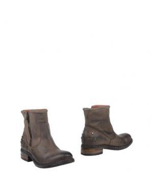 Полусапоги и высокие ботинки DONNA PIÙ. Цвет: свинцово-серый