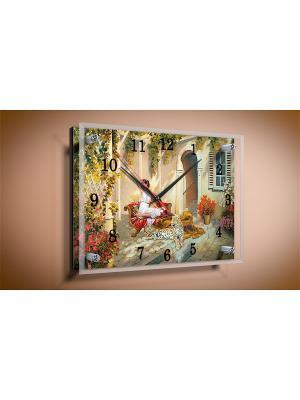 Настенные часы Патио PROFFI. Цвет: бежевый, светло-желтый, красный, розовый, белый, темно-зеленый, коричневый, светло-бежевый