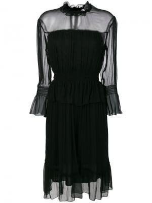 Шифоновое платье с длинными рукавами See By Chloé. Цвет: чёрный