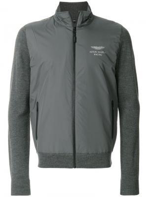 Куртка со стегаными панелями Hackett. Цвет: серый