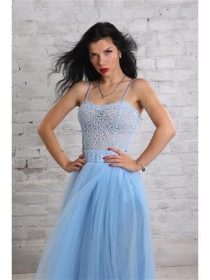 Блузка- боди SUGARLIFE. Цвет: голубой