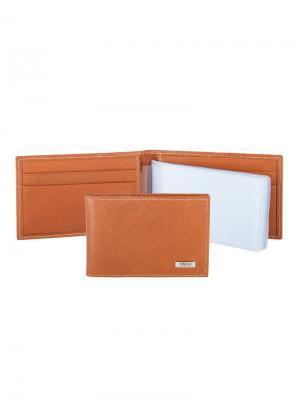 Футляр для карт с карманами Tirelli. Цвет: рыжий