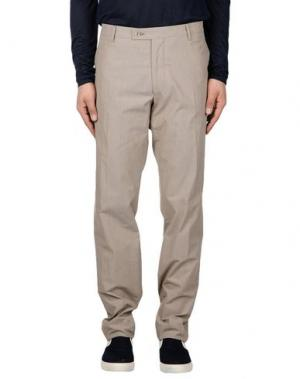Повседневные брюки BERWICH. Цвет: голубиный серый
