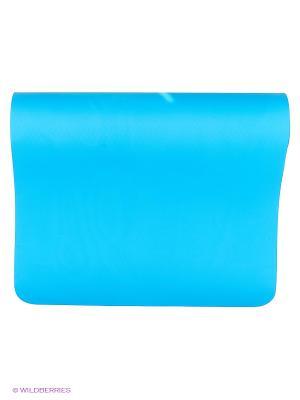 Коврик для йоги Шакти Earth 183х60х6мм (1,1кг, 185см, 6мм, голубой, 60см) RamaYoga. Цвет: голубой