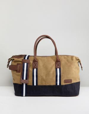 River Island Светло-бежевая парусиновая сумка. Цвет: светло-бежевый