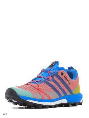 Кроссовки жен. TERREX AGRAVIC W  SUPBLS/RAYBLU/VAPPNK Adidas. Цвет: розовый, бирюзовый, желтый, синий