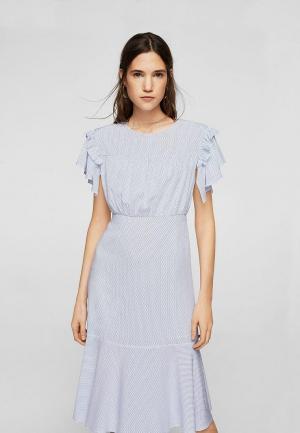 Платье Mango. Цвет: голубой