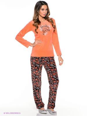 Комплект Vienetta Secret. Цвет: оранжевый, коричневый